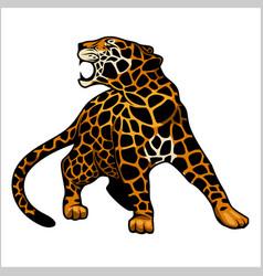 jaguar logo icon character vector image vector image