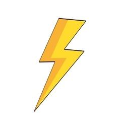 Lightning pop art vector