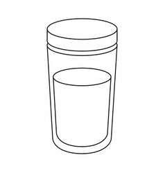 liquid container packaging vector image vector image