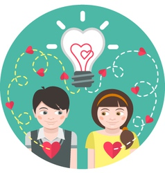 Love at First Sight vector image