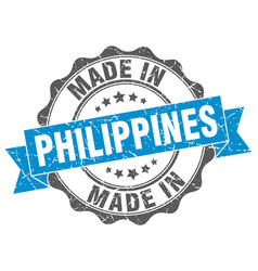Made in philippines round seal vector