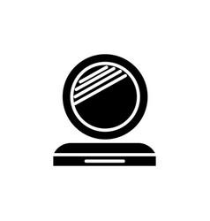 makeup mirror icon black vector image