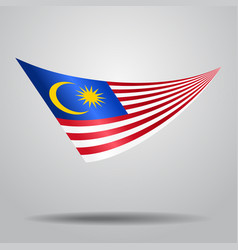 Malaysian flag background vector