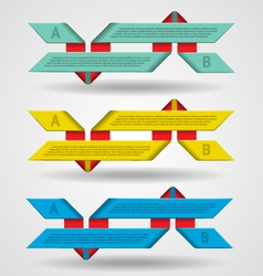 Modern set of ribbons infographics vector image vector image