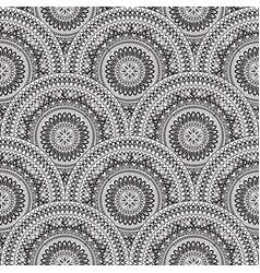 Oriental floral seamless pattern geometric vector