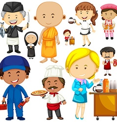 People doing different occupations vector image