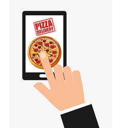 pizza delivery vector image vector image