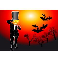 pumpkin walking vector image vector image