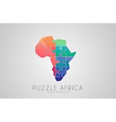 Puzzle Africa Map of Africa Africa logo vector image vector image