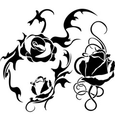 roses tattoo vector image vector image
