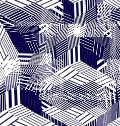 Seamless pattern with parallel lines and geometric vector