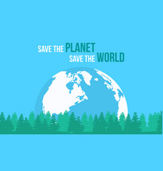 style earth day flat vector image vector image