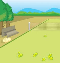 tennis yard vector image vector image