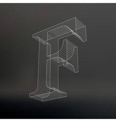 The letter Polygonal letter Low poly model The vector image vector image