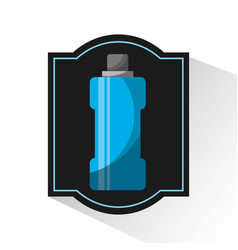 Water bottle gym icon vector