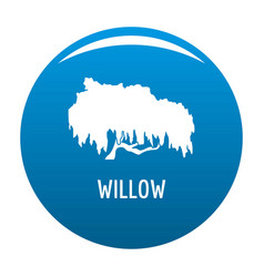 Willow tree icon blue vector