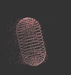 Wireframe mesh cylinder vector