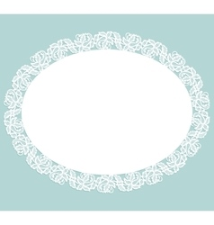 Napkin with lace vector