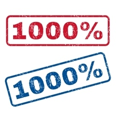 1000 percent rubber stamps vector