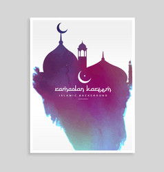 creative mosque shape design made with ink vector image