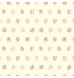 Vintage seamless background with flower polka dots vector