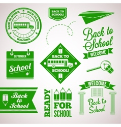 back to school icon set labels design vector image