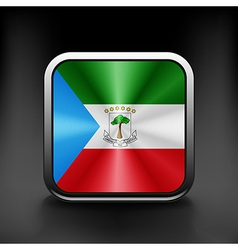 Equatorial guinea icon flag national travel icon vector