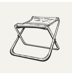 Isolated folding camp chair on vector