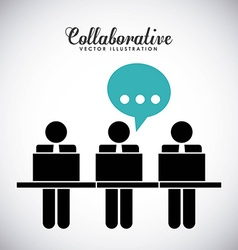 Collaborative people design vector