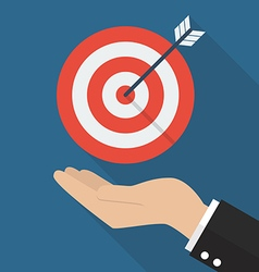 Hand with target and arrow vector image