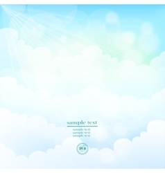 Blurred background sky with clouds vector