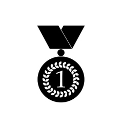 Number one gold medal icon black simple style vector