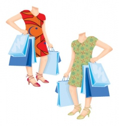 Shopaholic template vector