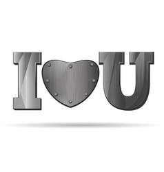 Abbreviation - i love you vector
