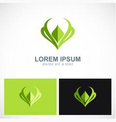 Beauty letter v organic logo vector