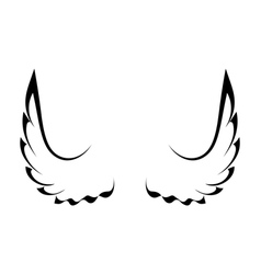 Black tattoo wings vector