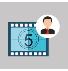 Businessman movie countdown numbers icons vector
