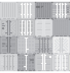 Cargo containers grey pattern vector image