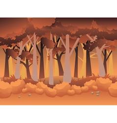 Cartoon autumn forest vector