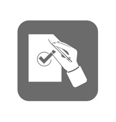 customer service icon with approved sign vector image