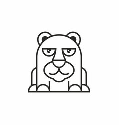 Cute bear icon on white background vector