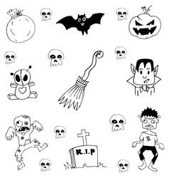 Doodle of scary halloween zombie vector