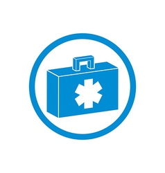 First aid kit icon isolated vector