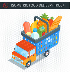 food delivery truck vector image