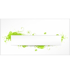 Green grunge swirls banner vector