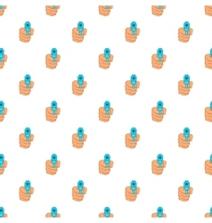 Hand with gun pattern cartoon style vector