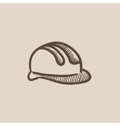 Hard hat sketch icon vector