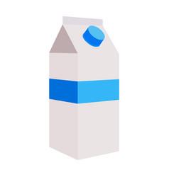 Isolated milk bottle vector