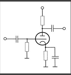 lamp circuitry vector image