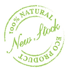 New stock eco product stamp vector